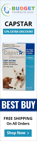 Capstar is the fastest oral flea treatment that kills adult fleas on dogs. It starts acting in 30 minutes of application and destroys almost 100% adult fleas within 5-7 hours of administration.